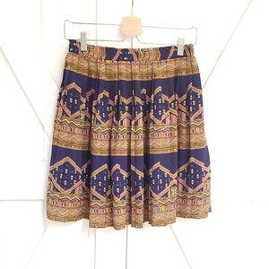 Anthropologie Edme & Esyllte Pleated Navy Skirt